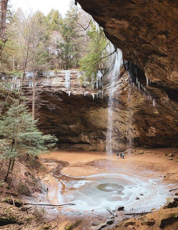 ash cave in winter hocking hills ohio
