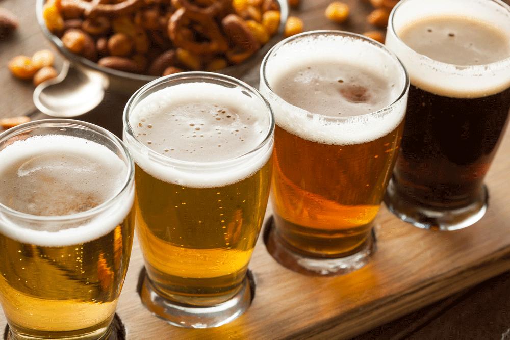 paddle of beer flight