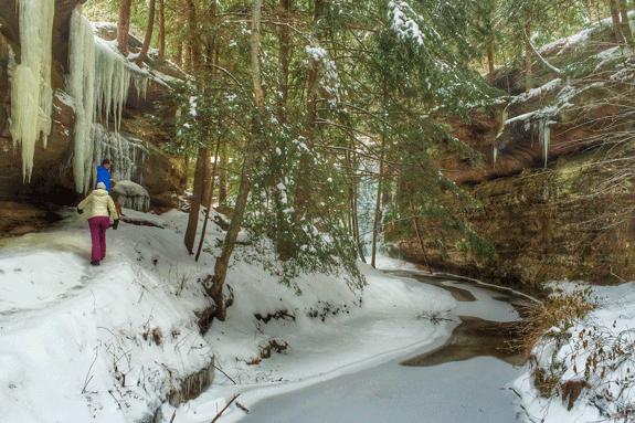hocking hills winter